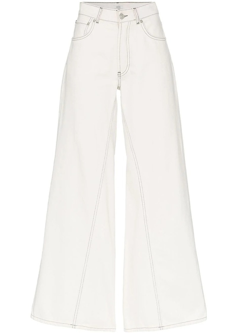 Ganni wide-leg denim jeans