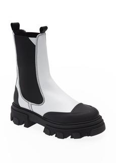 Women's Ganni Calf Leather Mid Chelsea Boot