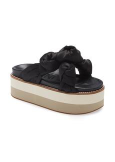 Women's Ganni Knotted Platform Slide Sandal
