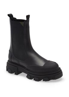 Women's Ganni Leather Lug Sole Platform Boot