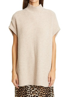 Women's Ganni Ribbed Wool Blend Pullover