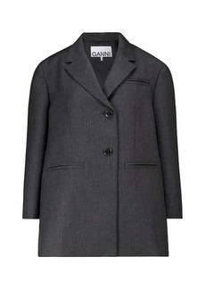Ganni Wool-blend blazer
