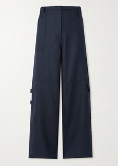 Ganni Wool-blend Wide-leg Pants