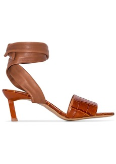 Ganni wrap ankle 45mm sandals