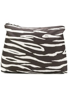 Ganni zebra print makeup bag