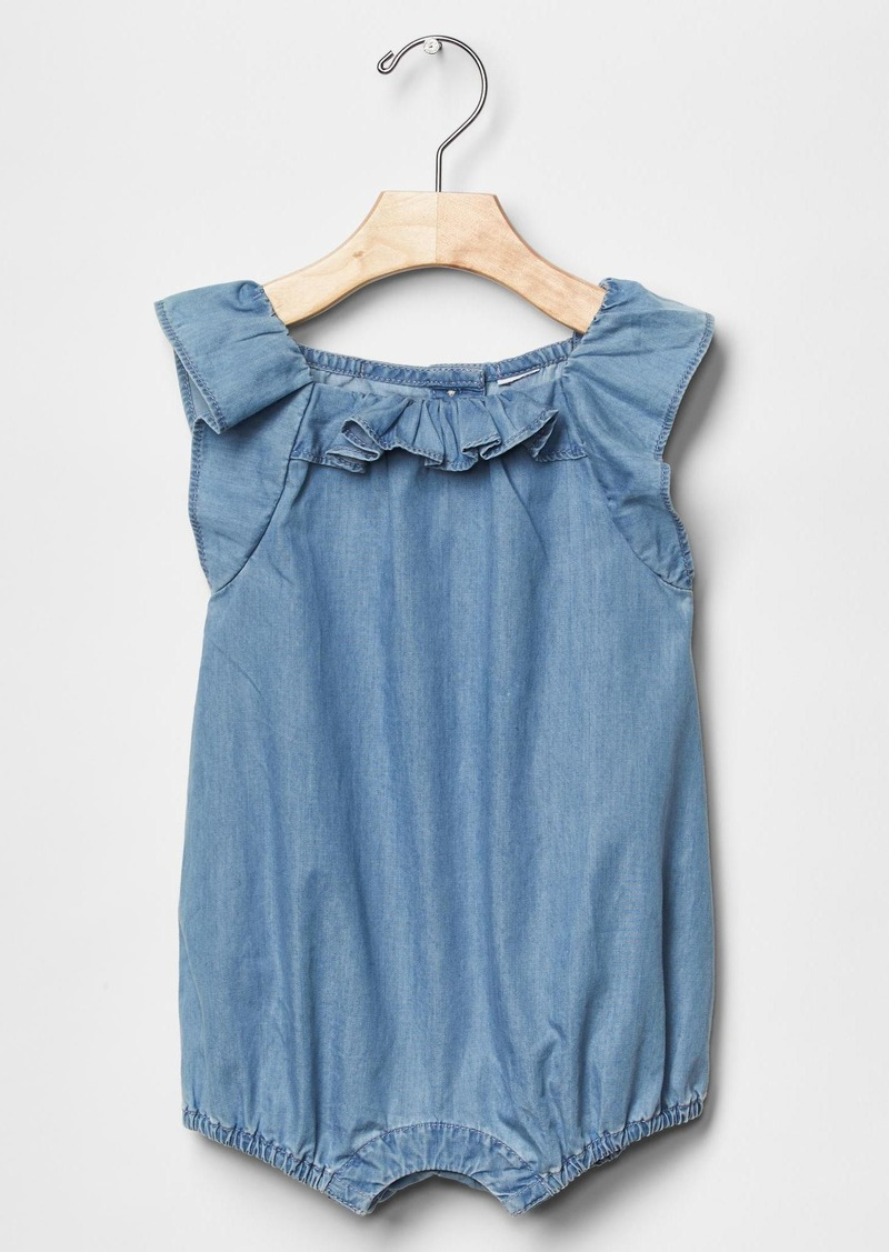 Gap 1969 chambray ruffle one piece sets shop it to me for Chambre one piece