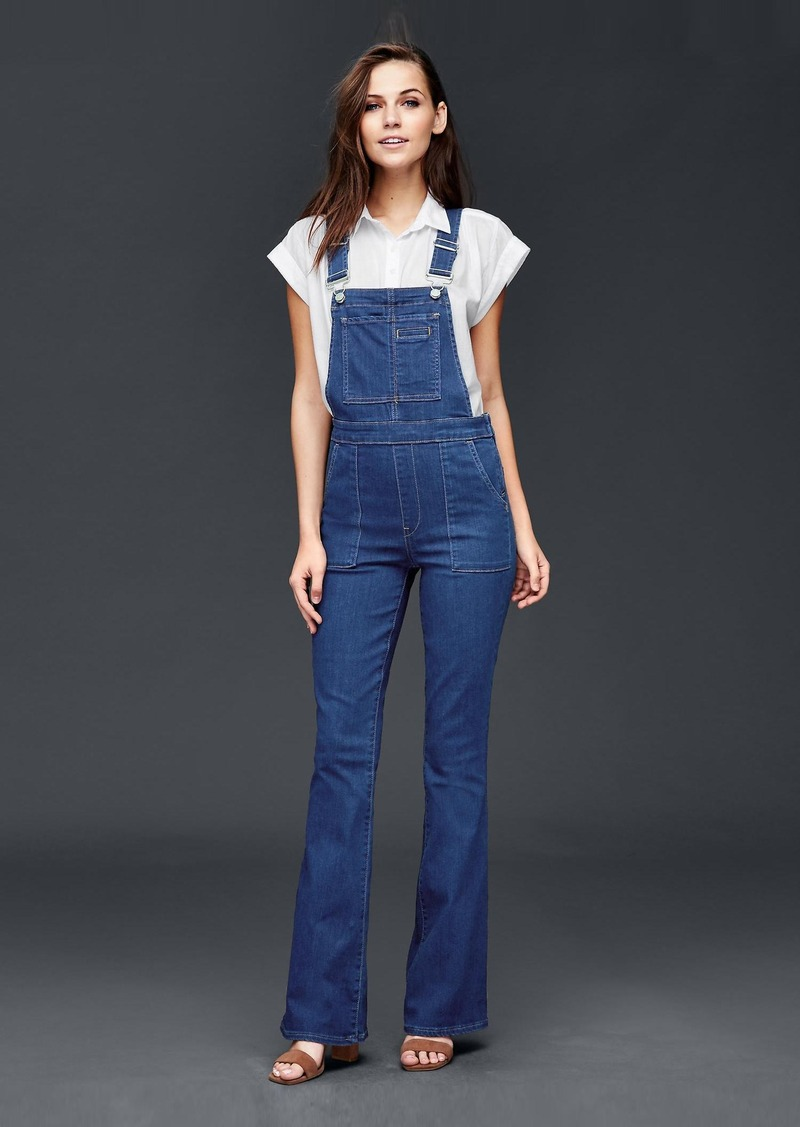 2a758841842 Gap 1969 denim flare overalls