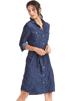 1969 denim western shirtdress