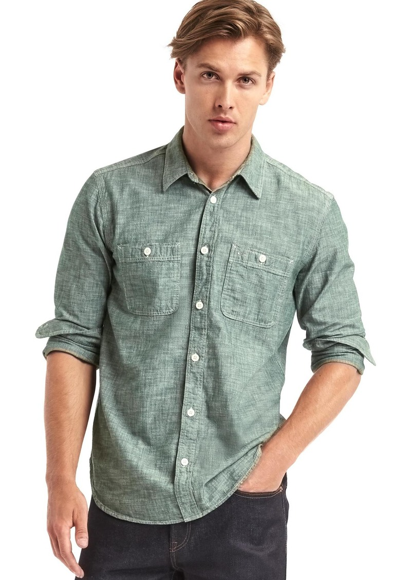 6177e469e8b On Sale today! Gap 1969 icon worker chambray shirt
