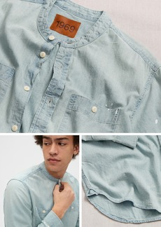 Gap 1969 Premium Distressed Denim Worker Shirt