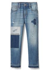 Gap Rip & repair girlfriend jeans