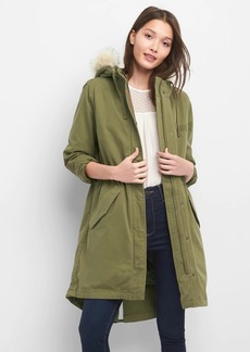 2-in-1 quilted parka