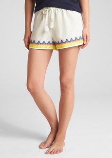 "Gap 3"" Embroidered Tassel-Drawstring Shorts"