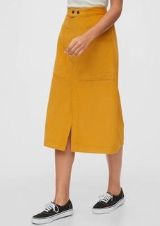Gap A-line Corduroy Midi Skirt