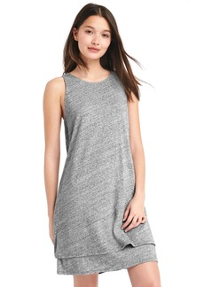 A-line layered tank dress