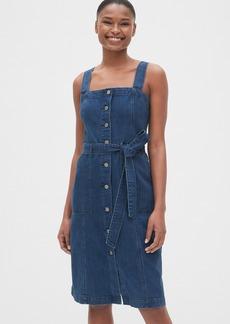 Gap Apron Button-Front Denim Dress