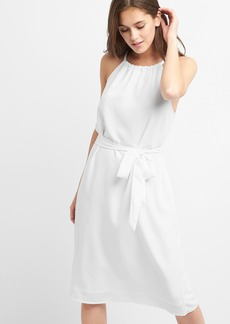 Apron halter midi dress