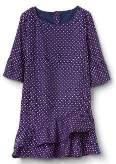 Gap Asymmetrical Ruffle Dress