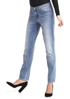 Gap Mid rise stud-pocket real straight jeans