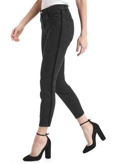 Gap Mid rise velvet stripe true skinny ankle jeans