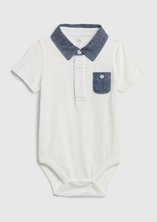 Baby Gap Chambray Polo Bodysuit