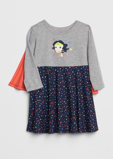 babyGap &#124 DC&#153 Wonder Woman Cape PJ Dress