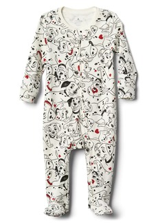 babyGap &#124 Disney Dalmatian footed zip one-piece
