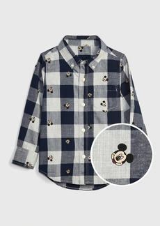 babyGap &#124 Disney Mickey Mouse Plaid Shirt