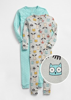 babyGap Critter PJ One-Piece (2-Pack)
