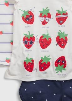 babyGap 100% Recycled Strawberry 3-Piece PJ set