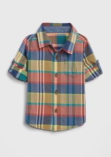babyGap Plaid Convertible Shirt