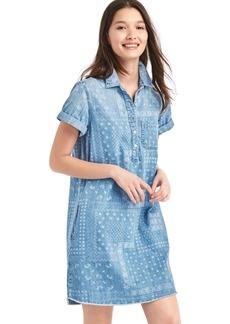Bandana denim popover shirtdress