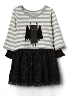 Gap Bat mix-fabric cape dress