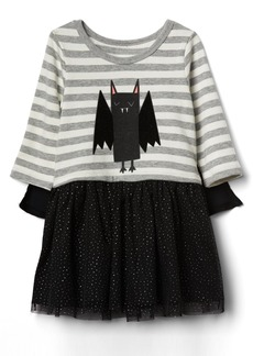 Gap Bat mix-fabric cape dress