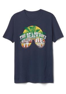 gap beach boys graphic crewneck tee casual shirts
