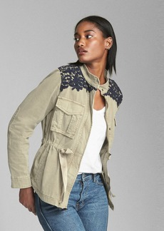 Gap Belted Utility Jacket with Lace Detail