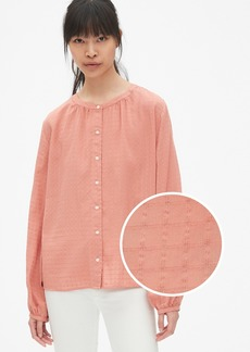 Gap Blouson Sleeve Button-Front Blouse