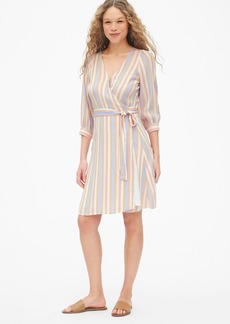 Gap Blouson Sleeve Wrap Dress