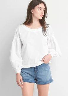 Gap Boatneck button-back shirt