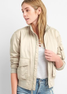 Gap Bomber Jacket in Water-Resistant Sateen