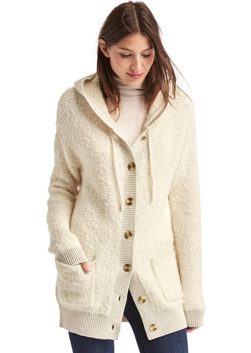 Gap Boucle hooded cardigan | Sweaters - Shop It To Me