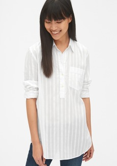 Gap Boyfriend Stripe Popover Tunic Shirt
