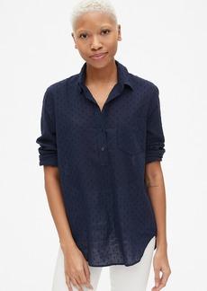 Gap Boyfriend Swiss Dot Popover Tunic Shirt