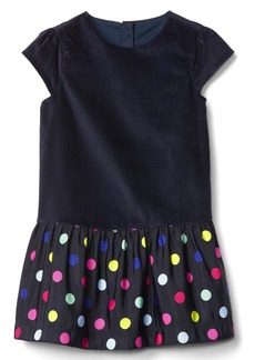 Gap Bright dots drop waist dress