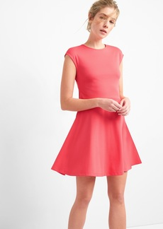 Gap Bunny-Tie Fit and Flare Dress in Ponte