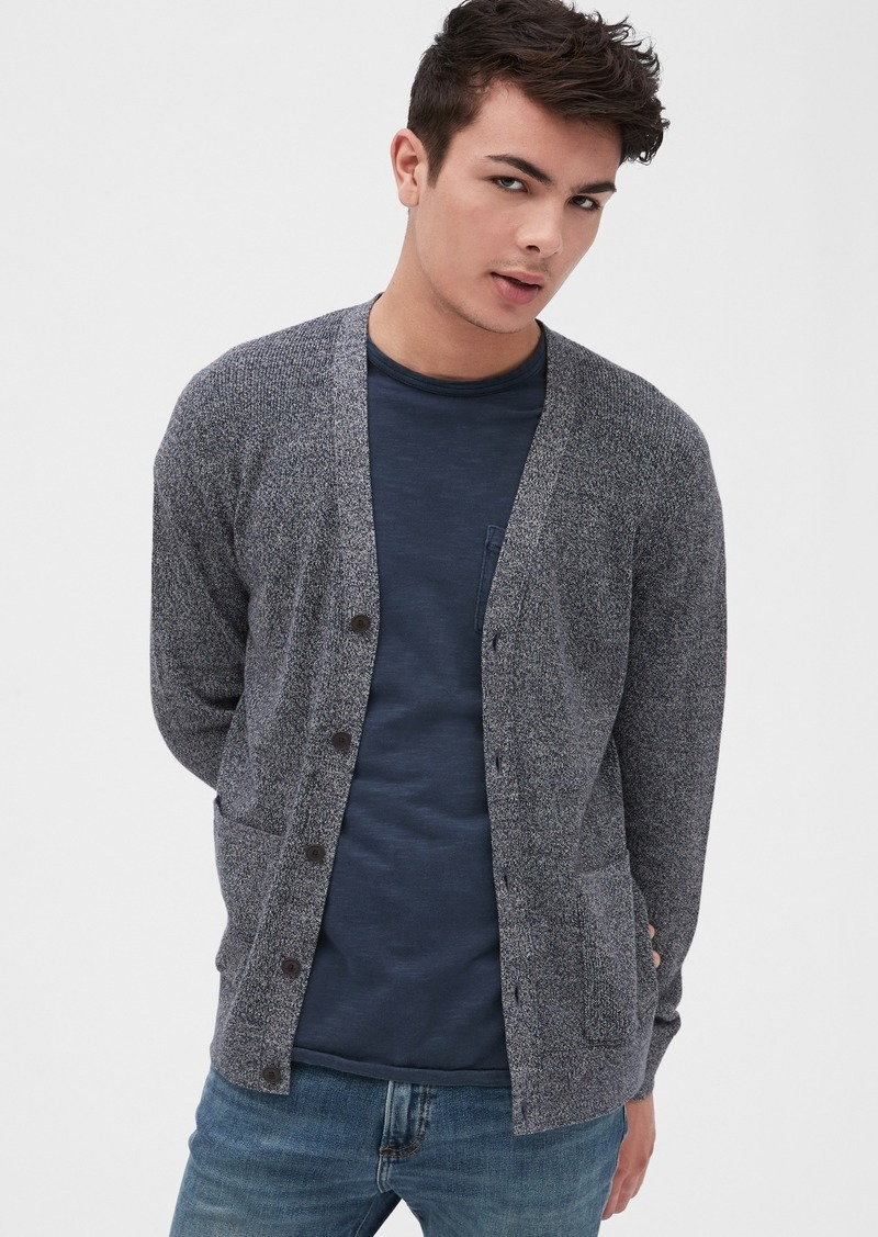 Gap Button-Front Cardigan Sweater
