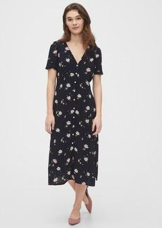 Gap Button-Front Midi Dress