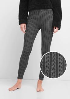 Gap Cable-knit button leggings