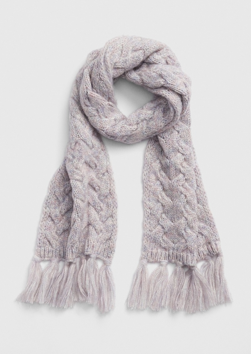 Gap Cable-Knit Fringe Scarf