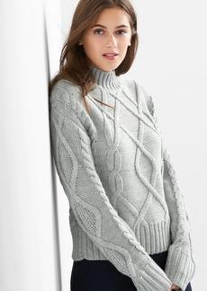 Gap Cable knit mockneck sweater